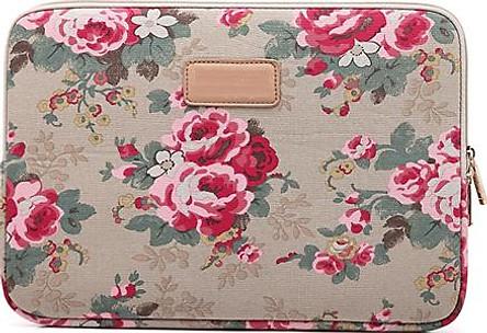Túi chống sốc Macbook Air, Macbook Pro, Laptop họa tiết hoa hồng