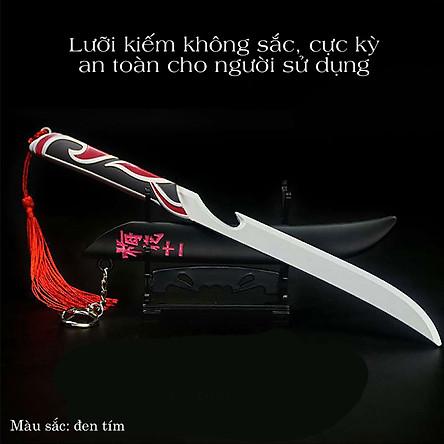 Kiếm đồ chơi móc khóa kiếm sát thủ lưỡi kéo không gỉ thanh kiếm hoa mai mô hình 22cm