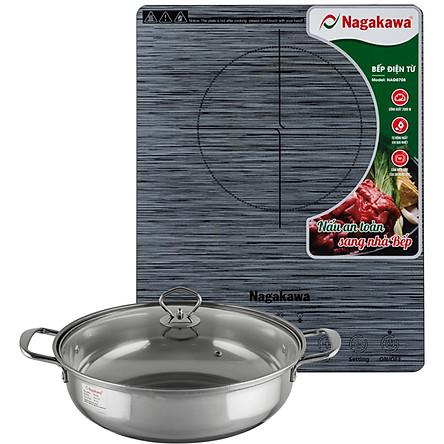 Bếp Từ Đơn Nagakawa NAG0708 (2000W) - Kèm Nồi Lẩu - Hàng Chính Hãng