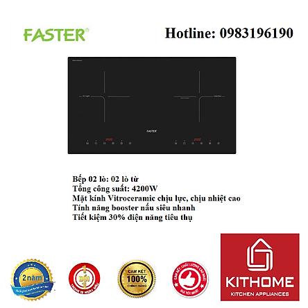 Bếp Điện Từ Đôi Faster FS 788I - Hàng Chính Hãng