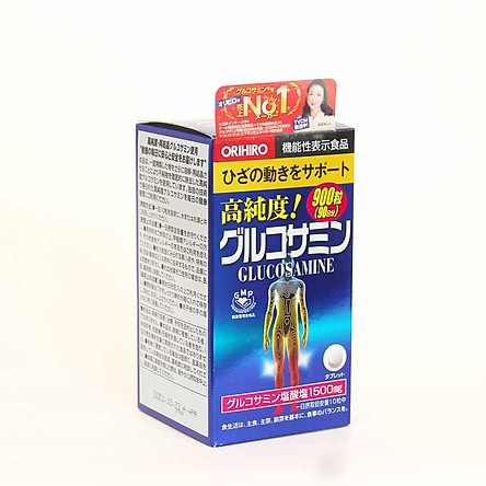 Thực phẩm bảo vệ sức khỏe Viên uống Glucosamine Orihiro 1500mg Nhật Bản 900 viên ( Orihiro Hight Pure Glucosamin Tablets )