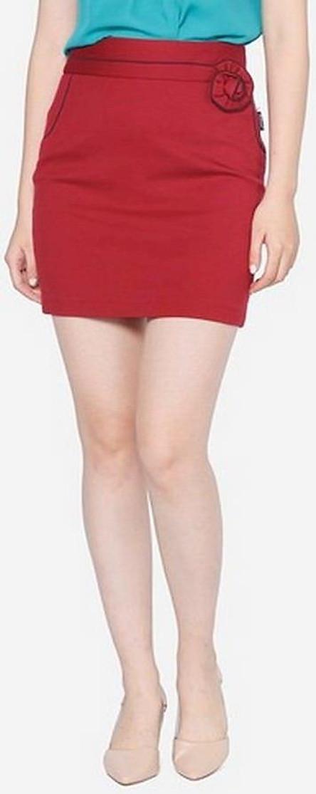 Chân Váy Nữ Cạp Xếp Hoa VDS0971DD1M - Đỏ