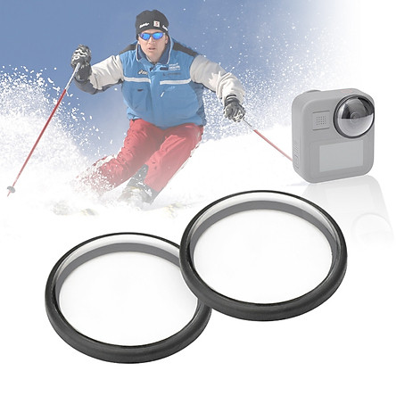 PULUZ 2Pcs/Set Acrylic Protective Lens Frame Cover Compatible with Go-Pro Max Anti-oil Anti-Scratch Lens Protector