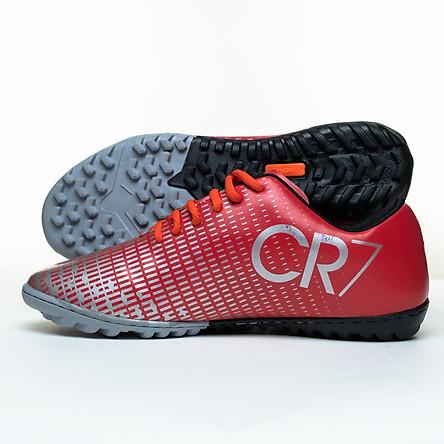 Giày đá bóng sân cỏ nhân tạo khâu full đế C.R cổ thường
