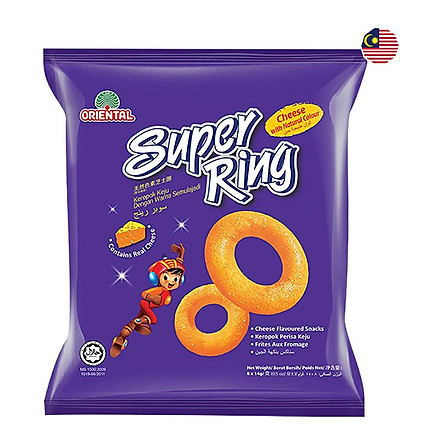 Snack Super Ring Cheese Oriental 112G (8 Gói x 14G)
