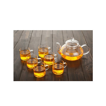 Bộ ấm  thủy tinh pha trà kèm 6 cốc - ANTH567