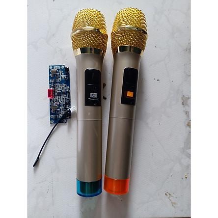 Bộ micro kèm bo cho loa kéo, mic UHF - Hàng Nhập Khẩu