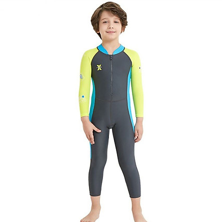 Children's Diving Suit One-Piece Long-Sleeved Wetsuit Upf50+ Spandex Surfing Snorkeling Suit