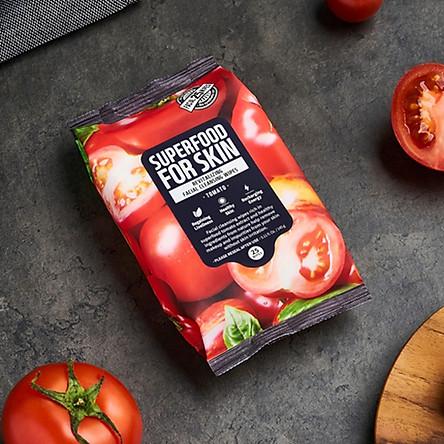 Khăn Giấy Ướt Tẩy Trang Farmskin Superfood For Skin Cleansing Wipes (25 Tờ/Gói)