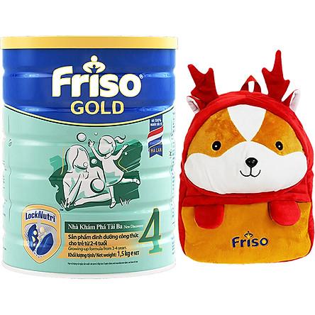 Sữa Bột Friso Gold 4 Cho Trẻ Từ 2-4 Tuổi 1.5kg + Tặng Balo Shiba