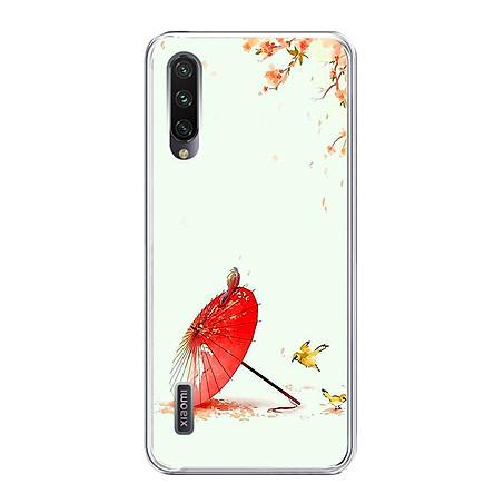 Ốp lưng dẻo cho điện thoại Xiaomi Mi A3 - 0463 SAKURA02 - Hàng Chính Hãng