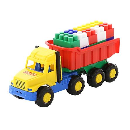 Xe tải đồ chơi 8 bánh kèm bộ lắp ráp – Polesie Toys