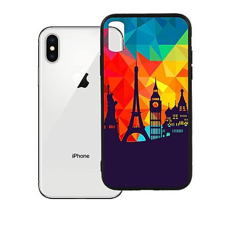 Ốp lưng viền TPU cho Iphone X - Travelling