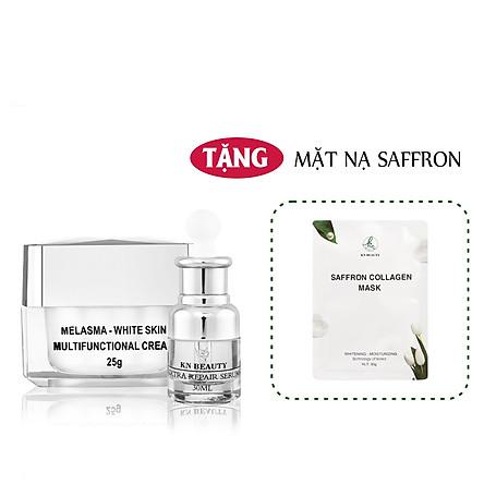 Bộ 2 sản phẩm Trắng Da Ngừa Nám KN Beauty chuyên sâu: Kem dưỡng 25g + Serum 30ml (Quà Tặng Mặt Nạ)