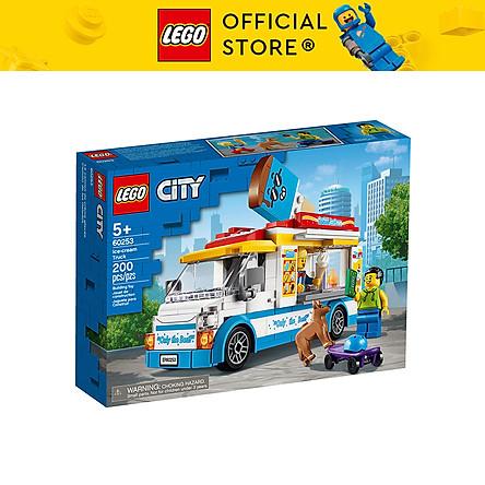 Đồ Chơi Lắp Ghép LEGO City Xe Tải Bán Kem 60253 (200 Chi Tiết)