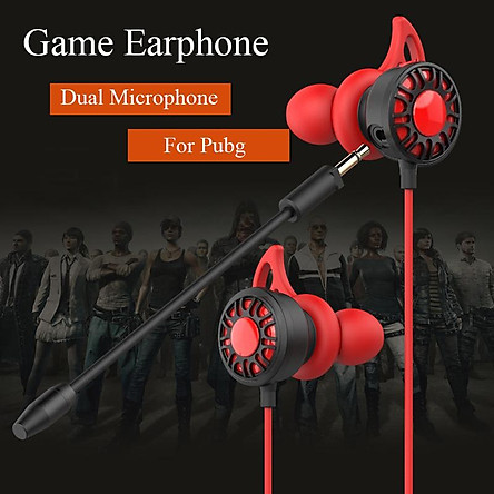 Gaming Earphone 7.1 Headset Helmets with Dual Mic Gaming Earphones PC Gamer with Volume Control for PUBG PS4 CSGO Casque Games