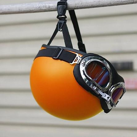 Mũ Bảo Hiểm Nửa Đầu SRT Màu Trơn Cao Cấp (Kèm Kính Phi Công) - 1/2 SRT