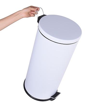 20 Lít - Thùng rác tròn đap chân inox - Sơn tĩnh điện - VNTB20-S