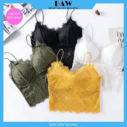 Áo Lót Bra dây chất liệu ren hoa lá cho mùa hè thương hiệu BAW mã AN19