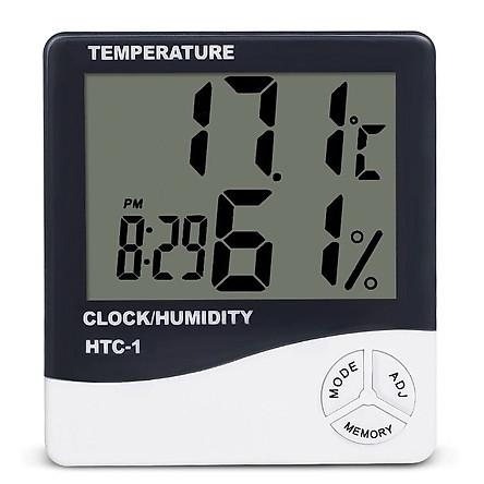 Đồng hồ đo nhiệt độ, độ ẩm và báo thức 3 chức năng trong một