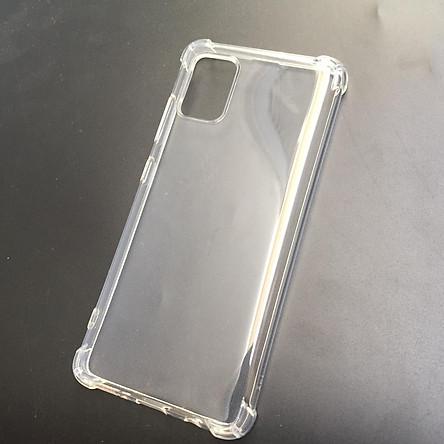 Ốp lưng silicon cho Samsung Galaxy A51 - chống sốc gờ cao 4 góc trong suốt