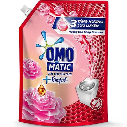 Túi Nước Giặt OMO Matic Comfort Hương Hoa Hồng 2.3KG