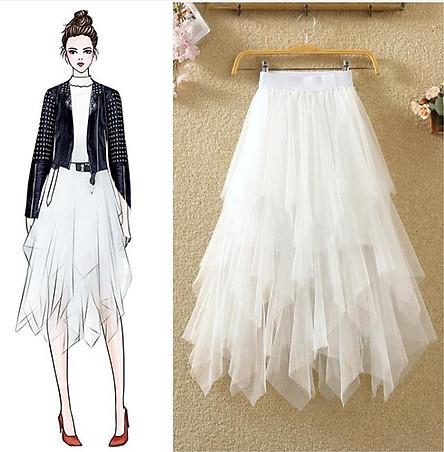 Chân váy ren Tulle - Tutu xòe tròn dáng dài thời trang cao cấp mẫu bán chạy VAY18 free size
