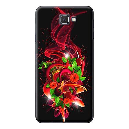 Ốp Lưng Dành Cho Samsung J5 Prime / J7 Prime - Họa Tiết Hoa Đỏ Nền Đen