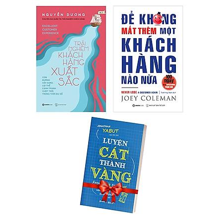 Bộ Sách Trải Nghiệm Khách Hàng Xuất Sắc + Để Không Mất Thêm Một Khách Hàng Nào Nữa (Bộ 2 Cuốn) - Tặng Kèm Sách: Luyện Cát Thành Vàng