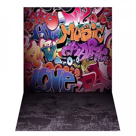 Phông Nền Chụp Ảnh Hình Graffiti Andoer (1.5 x 2.1m)