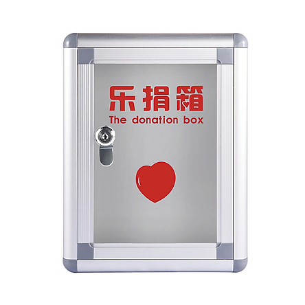 Glosen Large Donation Box Transparent Acrylic Board Charity Love Box Donation Box B083