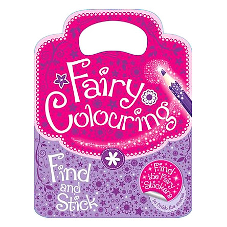 Sách tô màu Fairy Colouring Find and Stick
