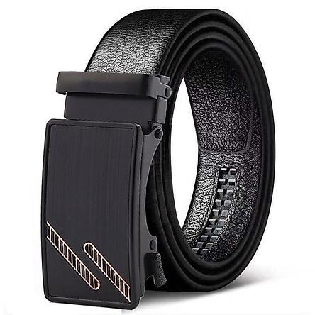 Dây thắt lưng nam khóa tự động hiện đại, dây da cao cấp có vân thời trang Hàn Quốc mới nhất năm nay - TOPEE