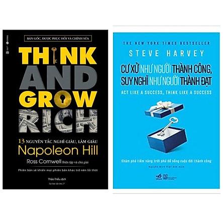 Combo 2 cuốn kĩ năng: Cư Xử Như Người Thành Công, Suy Nghĩ Như Người Thành Đạt + Think and Grow Rich - 13 Nguyên Tắc Nghĩ Giàu, Làm Giàu