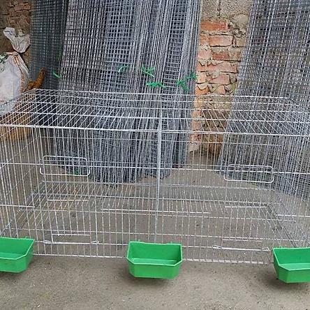 Lồng chim cảnh lắp ghép loại rộng 1 mét (100cmx50cmx50cm) ĐỦ PHỤ KIỆN- Lồng bồ câu bằng kẽm