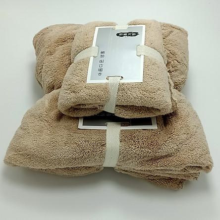 Combo 2 Khăn Tắm Hàn Quốc Cotton Siêu Mịn - Hàng Nhập Khẩu