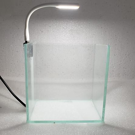 Bể cá mini để bàn 15cm có đèn led USB
