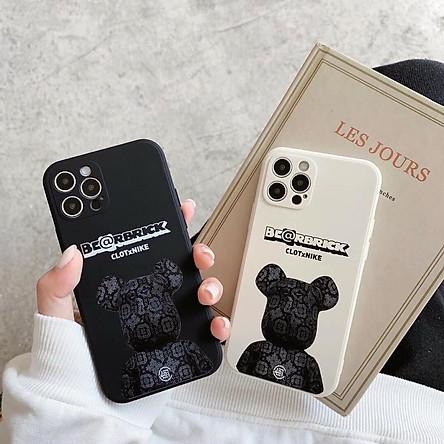 Case Ốp Lưng Gấu Đen Trắng Dành Cho iPhone 11, 11 Pro Max, 12, 12 Pro, 12 Pro Max