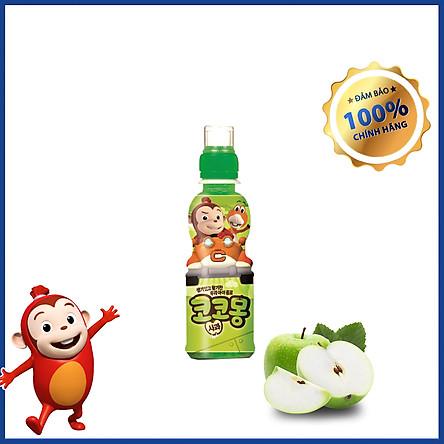 Nước trái cây lợi khuẩn trẻ em hình khỉ Cocomong Vị Yogurt Táo 200ml