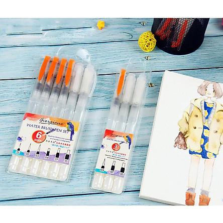 Bộ Bút Vẽ Màu Nước, Cọ Vẽ WaterBrush  Set 3 Cây / Set 6 Cây - Giao Màu Ngẫu Nhiên