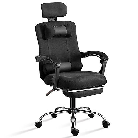 Ghế lưới văn phòng, ghế chơi game chân xoay cao cấp Mẫu B300 BLACK ( hàng nhập khẩu)