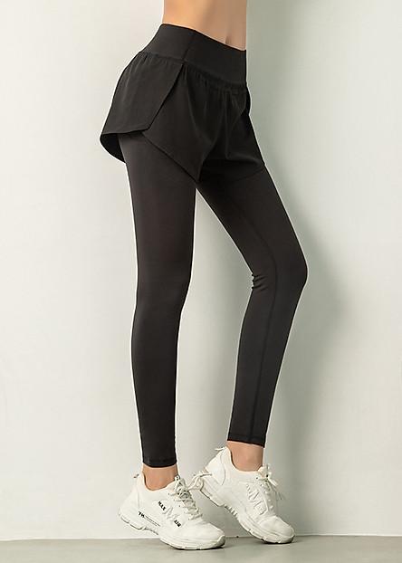 Đồ tập gym nữ Louro QL52, kiểu quần tập gym nữ có quần short liền, vải co giãn 4 chiều, thoáng mát