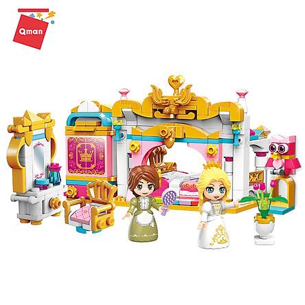 Đồ chơi lắp ráp, xếp hình lego Qman 32012: Căn phòng công chúa - 282 mảnh ghép