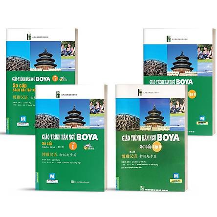 Sách - Combo Giáo Trình Hán ngữ Boya Sơ Cấp 1 + 2 Kèm Sách Bài Tập Đáp Án + Học App online (Trọn bộ 4 cuốn)