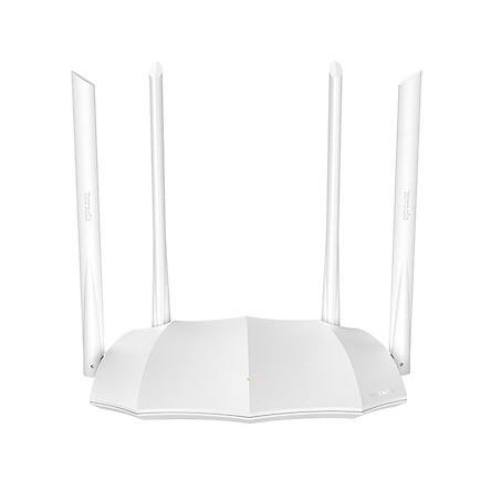 Bộ Phát Wifi Chuẩn AC1200 Tenda AC5 Màu Trắng Tặng Cáp Mạng Dây Đồng 8 Sợi Dài 2 mét - Hàng Chính Hãng