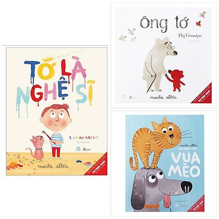 Combo 3 cuốn truyện tranh Ehon : Ehon Song Ngữ - I Am An Artist - Tớ Là Nghệ Sĩ + Picture Book - Ông Tớ +  Picture Book - Vua Mèo (Tặng kèm Bookmark thiết kế AHA)