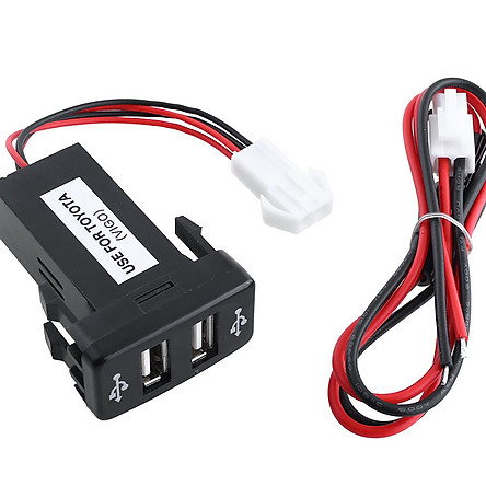 Ổ USB Cắm Sạc Điện Thoại Cho Toyota VIGO Car 12V 2.1A PDA DVR CS-270