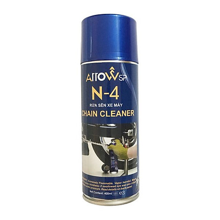 Chai xịt vệ sinh sên xe máy ARROWsp Chain Cleaner N4 400ml