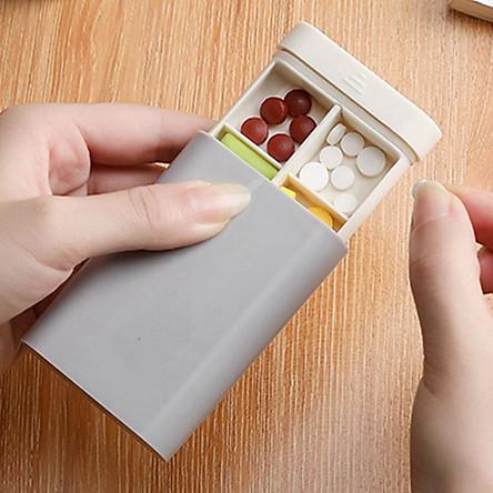 Travel Pill Box Holder Storage Box Organizer Drug Tablet Dispenser