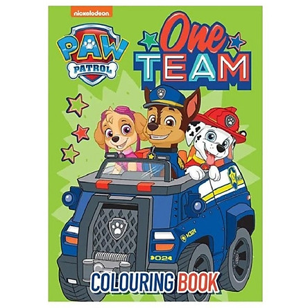Paw Patrol Blue Colouring